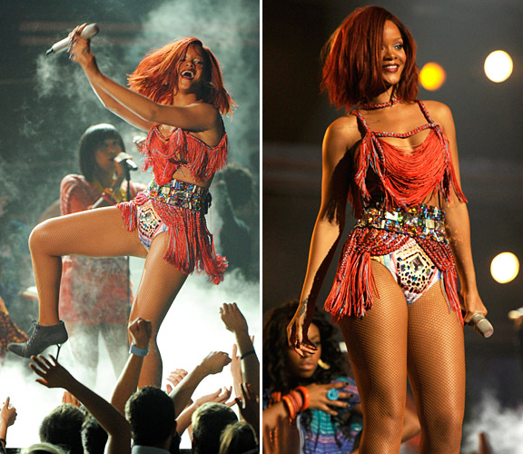 Rihanna at the 2011 Grammys Photos by: Getty Images / Imaxtree